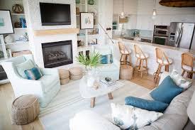 White Armchair Excellent Coastal Living Room Grey Sofa Blue Cushion White