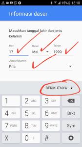 buat akun gmail bahasa indo cara mudah membuat akun email gmail di hp android mas logow blog