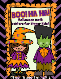 halloween math fourth and ten boo ha ha halloween math centers for older kids