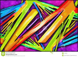 Color Painting by Vivid Color Abstract Painting Stock Photo Image 3129500