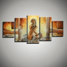 Wall Art Paintings For Living Room Canvas Wall Art Modern Abstract Lady Art Picture Hand