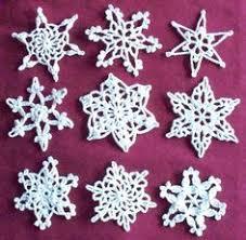 free crochet crochet snowflake patterns crochet