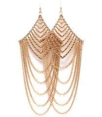 rhinestone chandelier earrings rhinestone detailed multi chain draped chandelier earrings