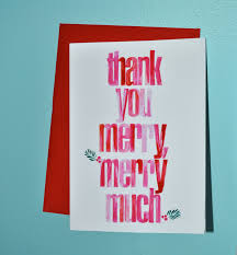 thank you merry merry much themed thank you notes are
