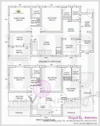 floor plans for a 4 bedroom house unique single floor 4 bedroom house plans kerala home plans design