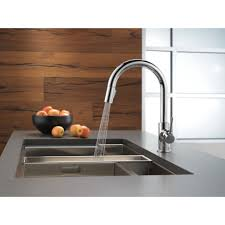 sinks faucets delta trinsic kitchen 15 single handle stainless
