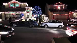 christmas lights treeside court south san francisco december