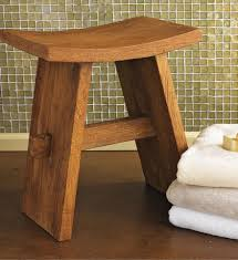 teak bath stool contemporary shower benches amp seats gaiam