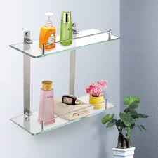 bathroom glass bathroom wall shelves also corner plant on pot and