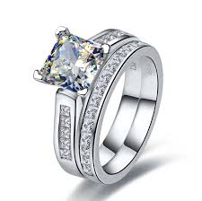 aliexpress buy 2ct brilliant simulate diamond men 7 7mm princess engagement ring solid 14k white gold 2ct rings