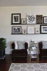 ikea ledge picture ledge gallery wall using shelves from ikea diy home