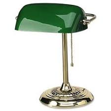 green glass l shade bankers l