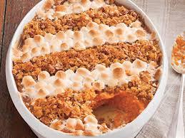 cornflake pecan marshmallow topped sweet potato casserole