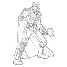 Top 20 Free Printable Superhero Coloring Pages Online Thor Coloring Page