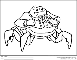 Monsters Inc Coloring Pages Waternoose For Moon Monster Page Coloring Pages Monsters
