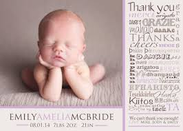 thank you card unique birth announcement thank you cards birthday