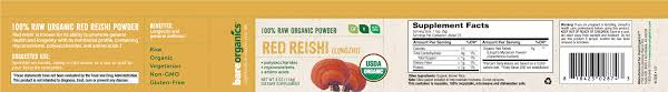 bareorganics superfoods red reishi powder
