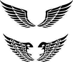 of extended wings designs vector free