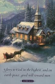 kinkade sunday evening sleigh ride cards box of