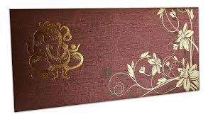 ganesh wedding invitations reddish brown ganesh indian wedding invitation
