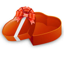 open heart shaped gift box icon u2013 free icons download