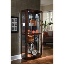 Oak Curio Cabinets Decorating Howard Miller Jamestown Oak Corner Curio Cabinet For