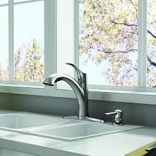 standard pull out kitchen faucet standard mesa stainless steel 1 handle pull out kitchen