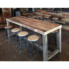 pub table height 42 reclaimed wood community bar restaurant table is well sanded and
