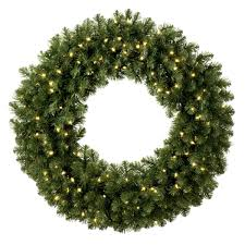 wreath with lights royalty free stock photo