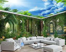 3d wall murals page 9 idecoroom 3d forest house pigeon deer wall murals wallpaper art print decor idcqw 000362
