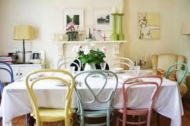 Pastel Dining Chairs Multi Colored Dining Chairs A Playful Touch For The Décor