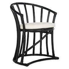 Rattan Accent Chair Safavieh Bates Rattan Accent Chair In Black Bed Bath Beyond