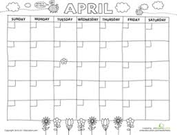create a calendar preschool printables education com