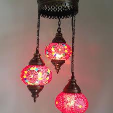 Mosaic Chandelier Turkish Pink Turkish Stylish Boho Mosaic Lamp From Thelampcorner On Etsy