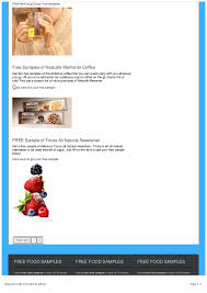 really free finder free sle finder gives you free food sles by mail