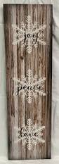 joy peace love wood sign or canvas wall hanging christmas