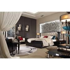 Black Lacquer Bedroom Furniture A U0026x Bellagio Luxurious Transitional Crocodile Lacquer Bed