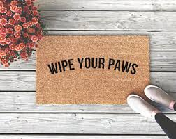 Wipe Your Paws Rubber Backed Hope You Like Dogs Door Mat Funny Doormat Custom Doormat