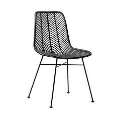 fauteuil de bureau lena bloomingville lena black rattan chair bloomingville