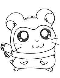 hamtaro coloring pages adorable pashmina cartoon coloring pages