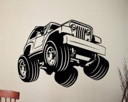 Jeep Wrangler Waterproof Interior Jeep Wall Sticker Jeep Wrangler Decal Home Interior Design