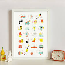 affiches chambre bébé zü designer for children alphabet poster