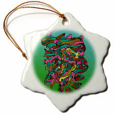 ornament homedecor art christmas tree ceramic star amazon