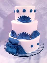 blue and white wedding cake cakecentral com