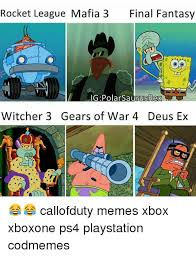 Final Fantasy Memes - rocket league mafia 3 final fantasy ig polar saurusrex witcher 3