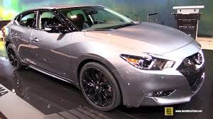 nissan maxima 2017 2017 nissan maxima midnight edition exterior and interior