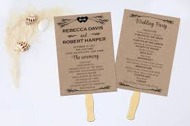 diy wedding program fan template what i wish everyone knew about diy fan wedding programs