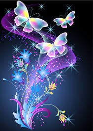 beautiful butterflies with flowers vector background free vector
