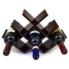 sorbus wine rack butterfly stores 8 bottles of wine