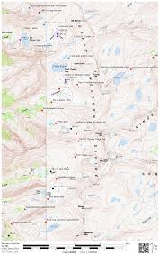 Sierra High Route Map by Kings Canyon High Basin Route Guide Download Andrew Skurka